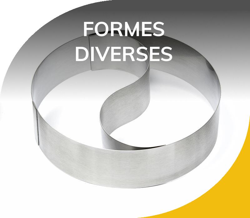 Moules Inox 304 - Formes diverses